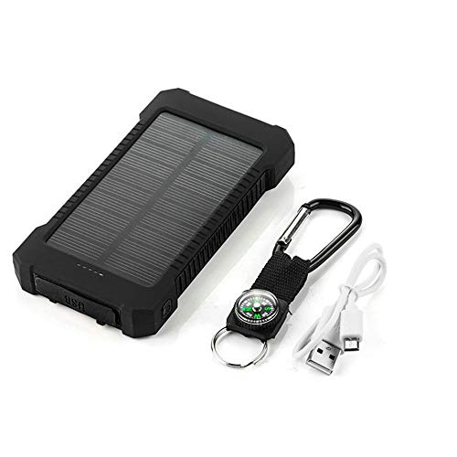 Batería Externa Solar para Motorola Moto Z3 Play Smartphone Tablet Cargador Universal Power Bank 4000 mAh 2 Puertos USB