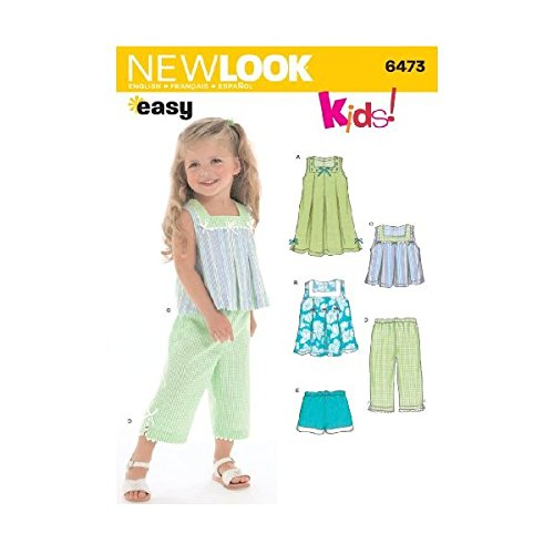 New Look Sewing Pattern 6473 Toddler Separates, Size A (1/2-1-2-3-4)