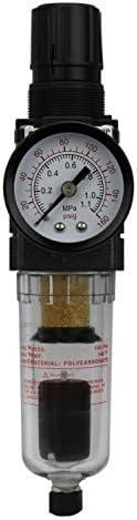 EXELAIR by Milton FRL Mini Piggyback Air Filter Regulator 1 4 NPT Polycarbonate Bowl Automatic product image