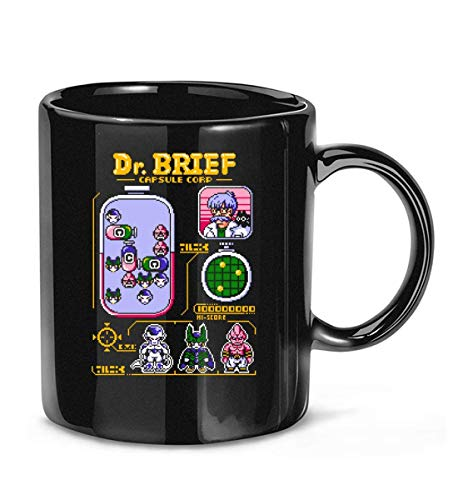 N\A Dr. Brief Capsule Corp (Solo Negro) Taza de café para Mujeres y Hombres Tazas de té