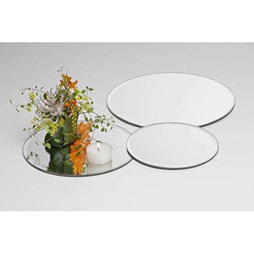 Sandra Rich Spiegelplatte, Tischspiegel, Deko Spiegel D. 25cm rund Glas