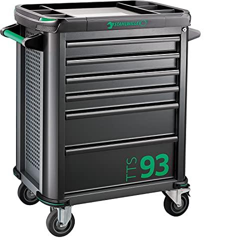STAHLWILLE 93/6 A Werkstattwagen | 6 Schubladen | sicher durch Zentralverriegelung und Kippschutz | strapazierfähige Kunststoffablageplatte