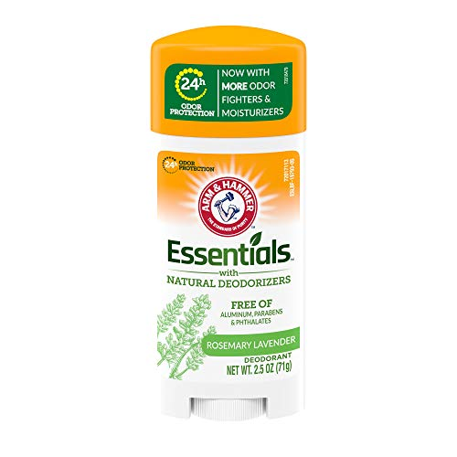 ARM & HAMMER Essentials Deodorant- Fresh Rosemary Lavender- Solid Oval- 2.5oz- Made with Natural Deodorizers- Free From Aluminum, Parabens & Phthalates
