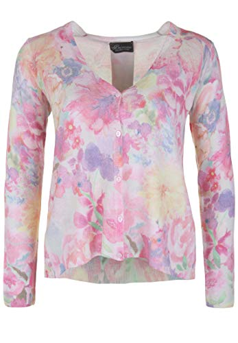 Princess goes Hollywood Damen Cardigan mit Flower-Print mit Print
