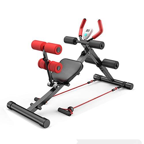 Entrenador de abdominales plegable profesional 4 en 1 con pantalla, adecuado para el entrenamiento muscular en casa (peso máximo 150 kg)