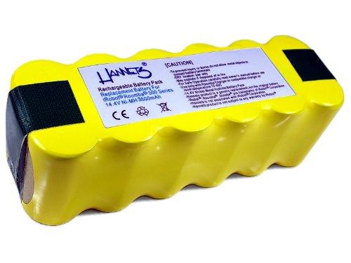 Hannets Batterie iRobot Série 700 de qualité I Batterie i-Robot Roomba Pack de Batteries Aspirateur Pièce Détachée I Roomba Série 700 Accessoires Batterie 3500 mAh Robot aspirateur de Rechange 14,4 V