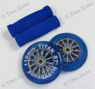 scooter Blue Razor Pro XX Replacement Set - 110mm Wheels, Bearings, Handle Grips