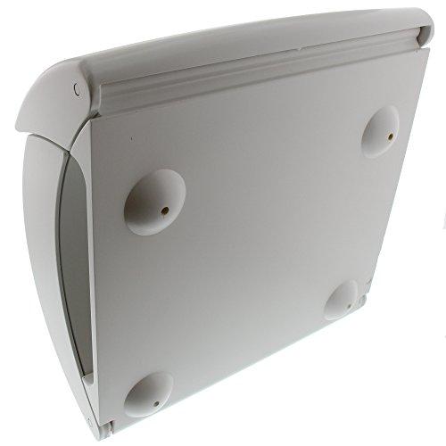 BURG-WÄCHTER Kunststoff-Briefkasten mit integriertem Zeitungsfach, A4 Einwurf-Format, EU Norm EN 13724, Kiel 886 W, Weiß - 2