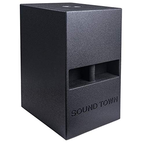 Sound Town CARME Series 12 800W Powered PA/DJ Subwoofer with Folded Horn Design, Black (CARME-112SPW)