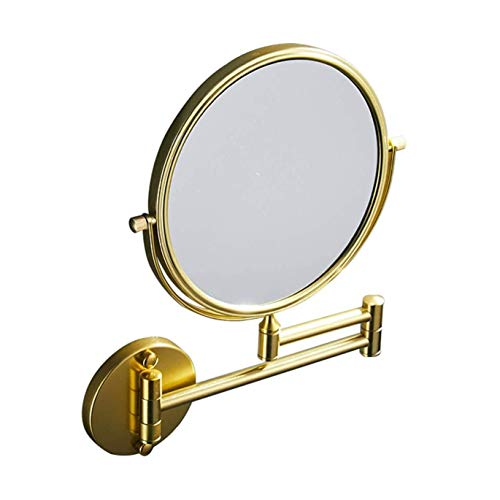 SSYS Espejo de Maquillaje, Espejos de vanidad, Espejo de baño de Oro de 8 Pulgadas x5 / 7/10 de magnificación Montaje Montaje Montaje DE Belleza Ajustable DE MAQUILLO TELESCÓPICO Espejo,A,X5