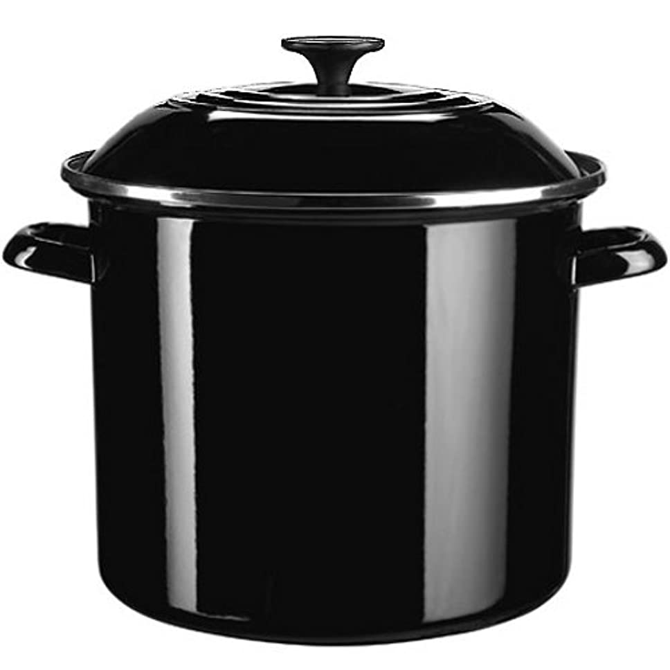 わかる開業医秀でるLe Creuset enamel-on-steel Covered Stockpot、6クォート、Flame 6 quarts ブラック N4100-2031