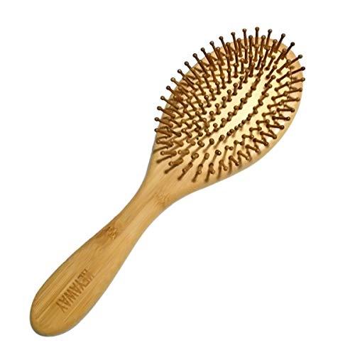 Spazzola per capelli in bambù,Spazzola capelli per asciugare, lisciare e lisciare i capelli, Spazzola da massaggio per donna