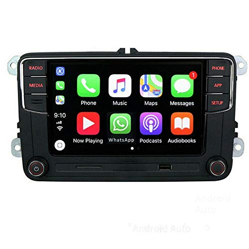 SCUMAXCON Autoradio RCD360 Bluetooth USB SD RVC für Golf Passat Polo Caddy Transporter5 Sharan CC EOS Vento Golf R Amarok