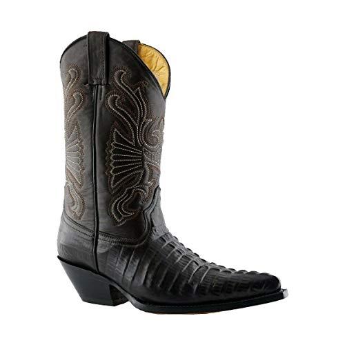 Grinders Mens Carolina Brown Croc Western Cowboy Dancing Boots 9
