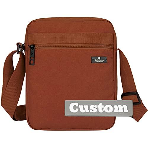 Nombre personalizado Crossbody Tablet Men iPad Pro 12.9 Bolsa de asas Microsoft Surface Pro 7 Travel (Color : Kafeise, Size : One size)
