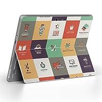 igsticker Surface Go/Surface Go 2 専用スキンシール サーフェス go シール スキン 保護 フィルム ステッカー アクセサリー 006241 その他 英語 文字 アイコン