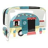 Bolsa de maquillaje portátil con cremallera bolsa de aseo de viaje para las mujeres práctico almacenamiento cosmético bolsa motor Hme
