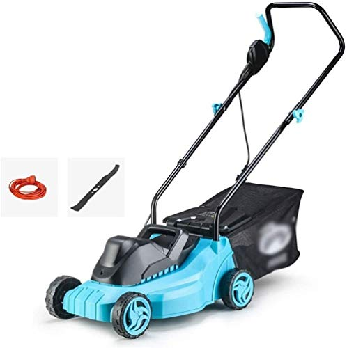 REWD Push Electric Lawn Mower, Corded Lawnmower, 32cm Cutting Width, 3 Adjustable Mowing Heights, Low Noise, with 30L Grass Collection Box and Blade (Size : Mower+40m Power Cord)
