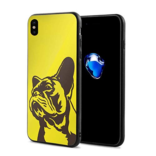 EU French Bulldog iPhone XS Case/iPhone X Case Soft TPU Shell Full Protective Bumper Anti-Scratch Case Enhanced Grip Protective Defender Cover