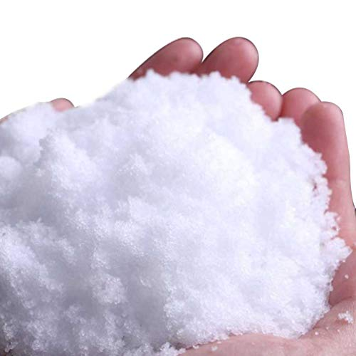 SUPVOX Nieve Artificial de Navidad Nieve Falsa Copos de Nieve Artificiales en Polvo para Limo artesanía decoración de Fiesta de Navidad (Blanco)