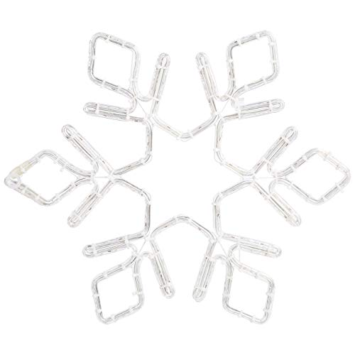 Amazon Basics LED Holiday Light, Decorative Motif for Christmas, Frosted Snowflake
