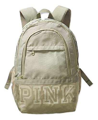 VICTORIAS SECRET PINK BLACK MESH WHITE LOGO MINI BACKPACK SCHOOL BAG NWT