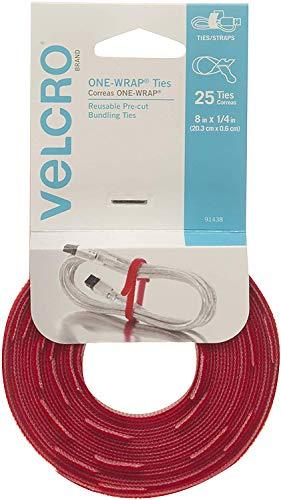 Klettverschluss Marke–one-wrap für Kabel, Drähte & Bindekordeln 25 Count - 8