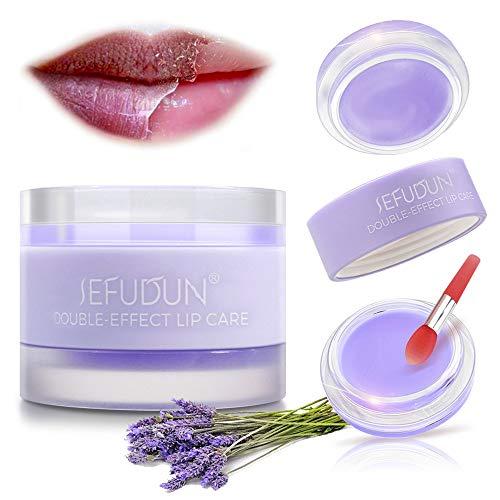 Lip Sleeping Masks, Lip Scrubs Exfoliator & Moisturizer & Collagen Booster Sleeping Lip Mask Repair Treatment to Restore, Hydrate, Plump Dry, Chapped Lips