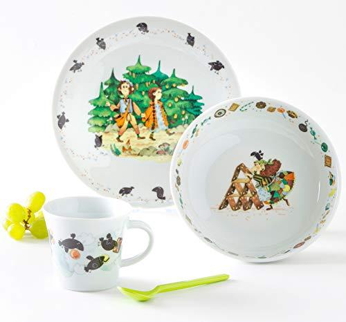 Kahla 32D200A50565C Kids Hänsel Gretel Kinderset 3 teilig Porzellan Kindergeschirr Dekor bunt Teller Tasse Suppenteller Kinderservice
