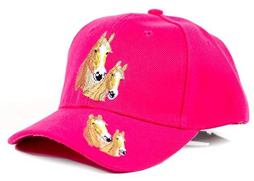 Evil Wear Kinder Baseball Cap mit Pferde Logo Sonnenschutz Schirm-Mütze Pink Rosa