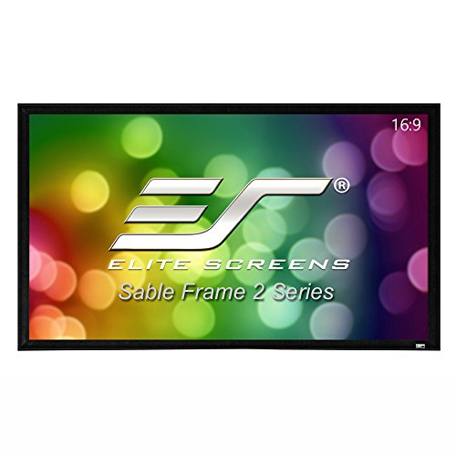 Elite Screens Sable Frame 2 Series, 200-inch Diagonal 16:9, Active 3D 4K Ultra HD Ready Fixed Frame Home Theater Projection Projector Screen, ER200WH2