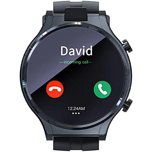 LLTG 4G Hombre Smart Watch, Cámara Dual HD Bluetooth Bluetooth 1.6 Pulgadas Pantalla táctil IP67 Impermeable GPS WiFi WiFi Smart Watch Deportes para Hombres Fitness Multilingüe Reloj multiling