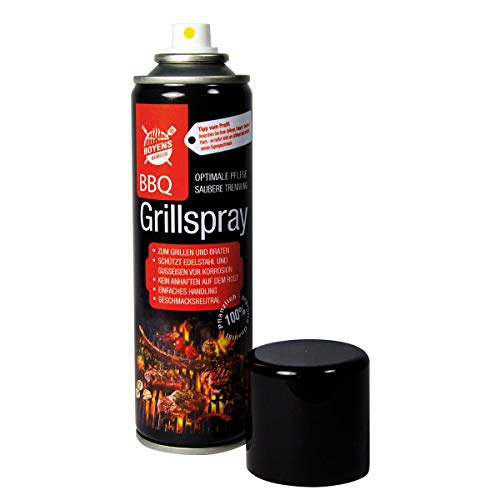 Boyens BBQ-Grillspray (1 Dose) zum Grillen und Braten Pflegespray für Edelstahl und Gußeisen 200ml Dose Grillspray Trennspray Trennfett Trennmittel