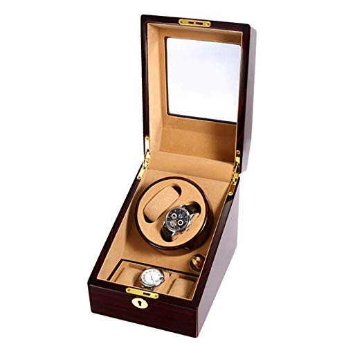 CCAN Enrollador de Reloj automático 2 + 3 Caja de enrollador de Reloj Caja de Almacenamiento de Madera eléctrica Caja de Reloj Organizador de Pantalla para Hombres y Mujeres