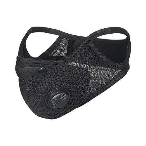 X-Labor Unisex Aktivkohle Atemschutzmaske Staubmaske Gesichtsmaske Mundschutzmaske Feinstaubmaske Staubschutz PM2.5 für Radfahren Motorrad Training schwarz