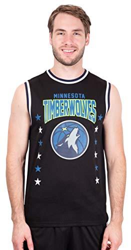Ultra Game NBA Minnesota Timberwolves Mens Jersey Sleeveless Muscle T-Shirt, Black, Medium