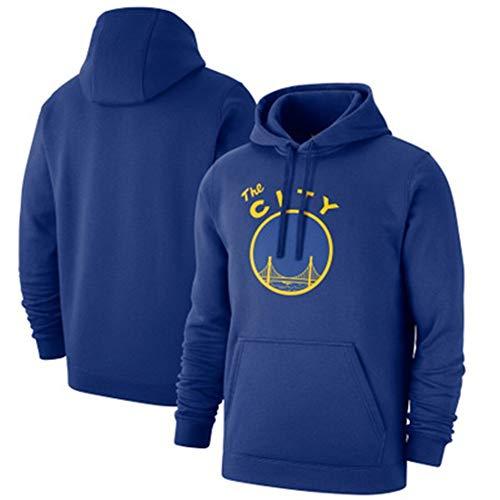 ZSPSHOP NBA Sudadera con capucha GoldenStateWarriors de manga larga con capucha suéter con capucha para hombre comodidad casual deportes, color Azul2, tamaño X-Large