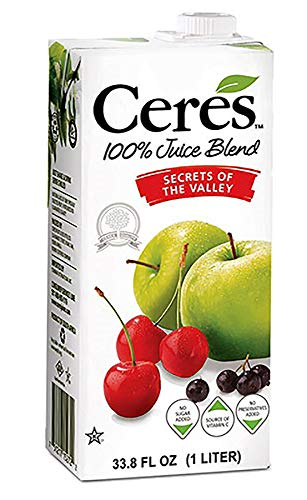 Ceres 100% All Natural Pure Fruit Juice Blend, Secrets of the Valley - Gluten Free, Rich in Vitamin C, No Added Sugar or Preservatives, Cholesterol Free - 33.8 FL OZ (Pack - 6)