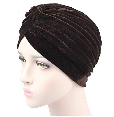 Tukistore Mujeres Indian Turbants Sombreros Gorra Headwear Musulmanes Sombrero de Cabeza Sombrero Gorra para la pérdida de Cabello, Chemo, Cancer Cap Quimioterapia, Un Tamaño