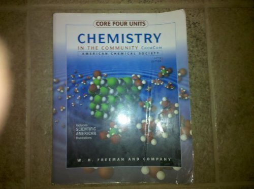 Chemistry in the Community (Enhanced Core Four): Units 1-4