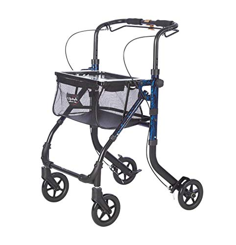 Lifestyle Mobility Aids Shop-N-Go Narrow 4 Wheel Rollator with 6' Wheels (Laser Blue)