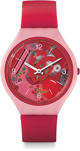Swatch Women's Digital Quartz Watch with Silicone Strap SVOP100