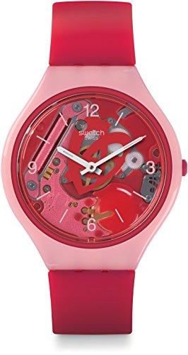 Swatch Reloj Digital para Mujer de Cuarzo con Correa en Silicona SVOP100
