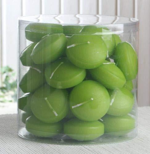 CandleCorner 34er Dose Schwimmkerzen mit Langer Brenndauer, Apfelgrün