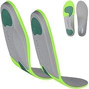 Plantillas ortopédicas ViveSole para fascitis plantar, plantillas de apoyo para el arco para comodidad y alivio de pies planos, arcos altos, espalda, fascia, pie (mediano)