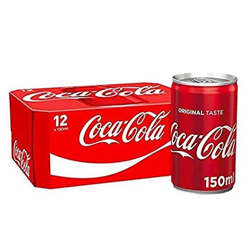 12 mini lattine Coca-Cola (12 x 150 ml).