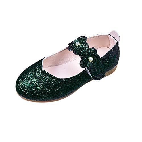 Zapatos de Fiesta Boda para Niñas Primavera Verano 2019 PAOLIAN Sandalias Princesa Vestir Bailarinas Disfraz Morado Calzado Suela Blanda Baratos Zapatillas Ballet Lentejuelas EU 24-34