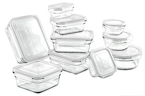 Glasslock Assorted Oven Safe Container Set - 20 Piece, Clear