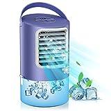 Mini Raffreddatore d'Aria, Condizionatore d'Aria Silenziosi 3 in 1, Cooler Ventilatore Personale,...