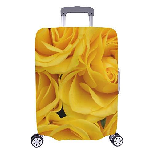 Protector de cubierta para maleta Rosa amarilla brillante Banquete Funda protectora lavable duradera Se adapta a 28.5 X 20.5 pulgadas...